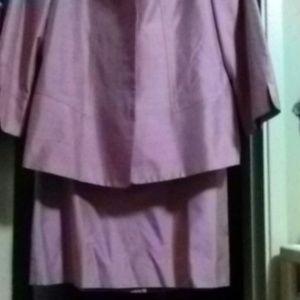 3 piece silk suit